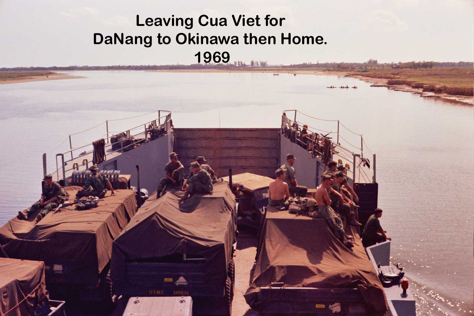 Leaving Dong Ha on LST Park County